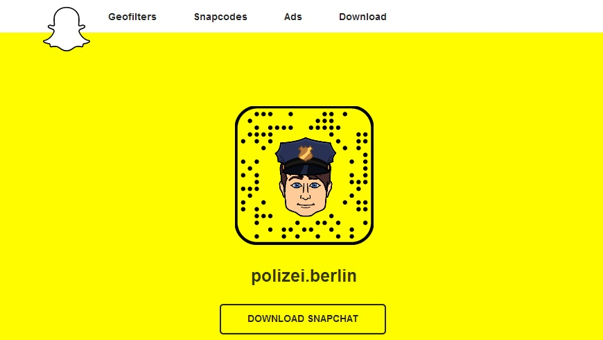 snapchat der Berliner Polizei