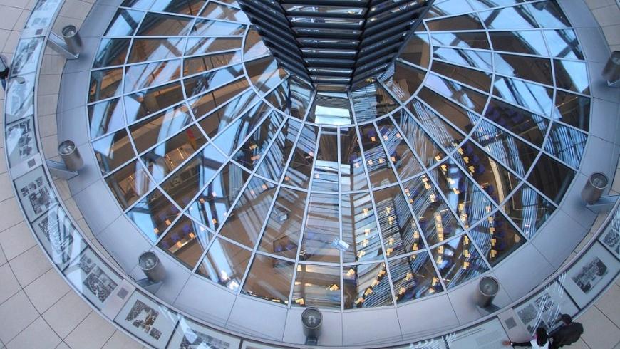 Blick aus der Bundestagkuppel