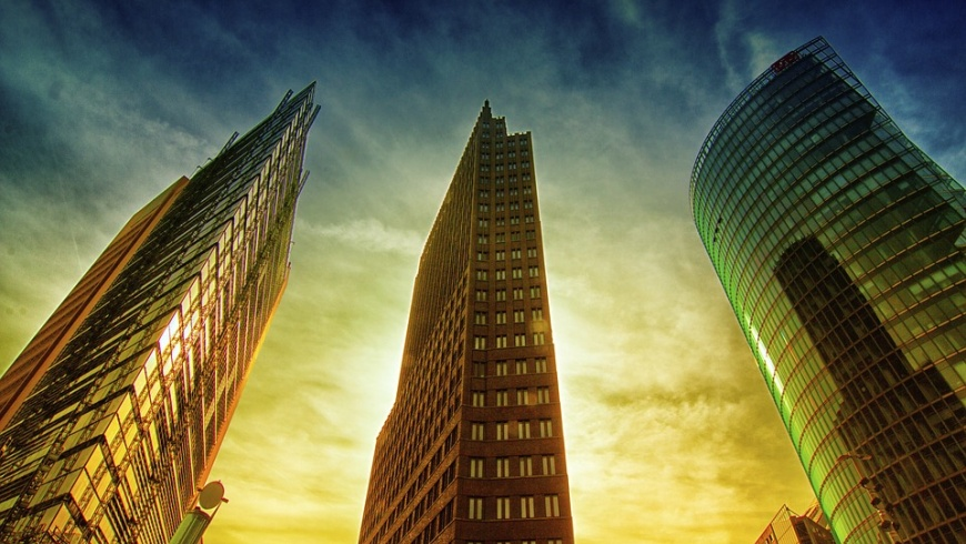 Hochhäuser am Potsdamer Platz