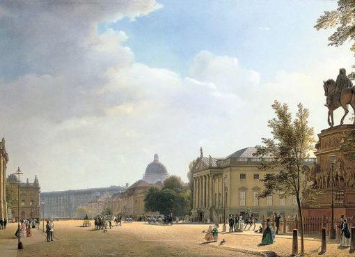 Eduard Gaertner: Berlin, Unter den Linden, 1852,