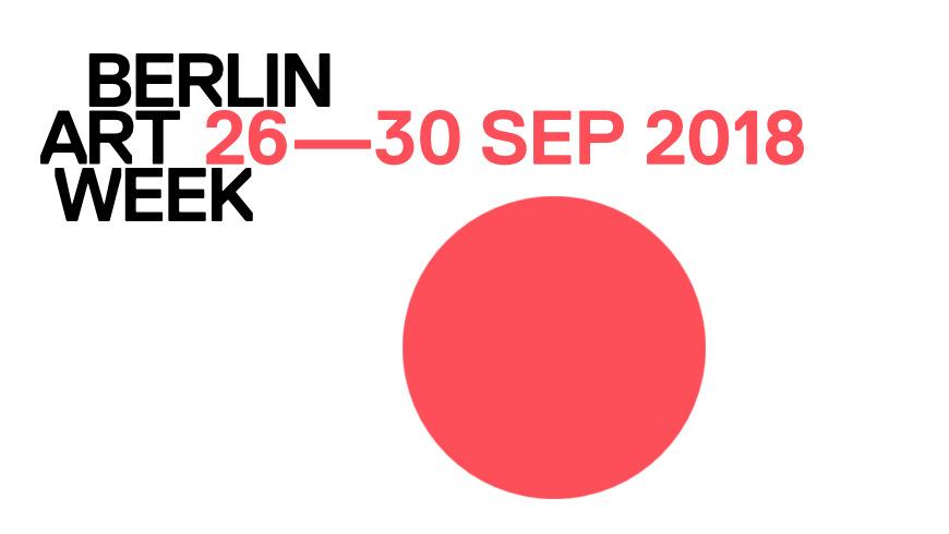 Berlin Art Week vom 26-30. September 2018 - offizielles Logo