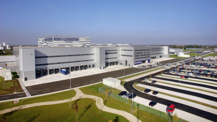 Logistikzentrum der KNV-Gruppe in Erfurt
