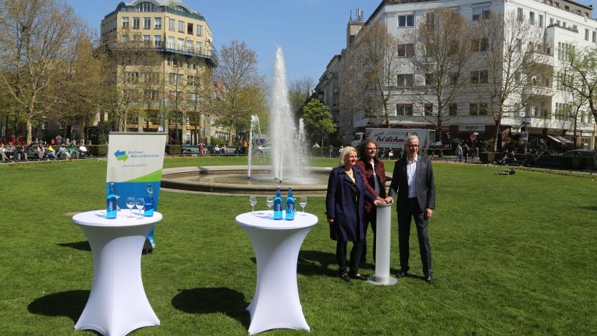 Prager Platz: Start der Brunnensaison