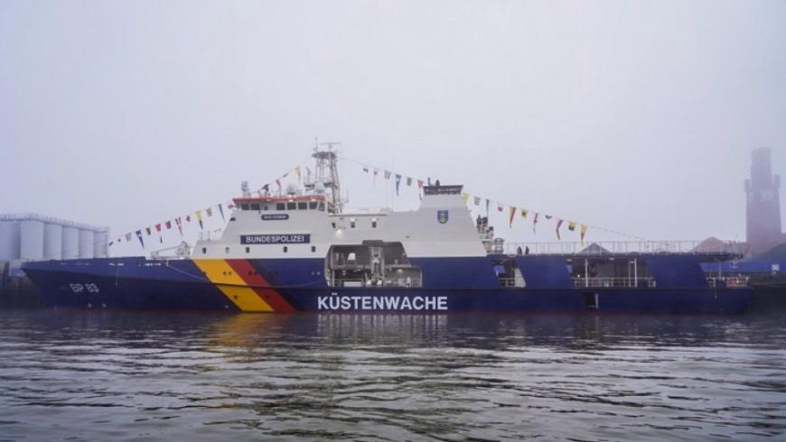 """Bundespolizei-Einsatzschiff BP 83 """"Bad Düben"""""""