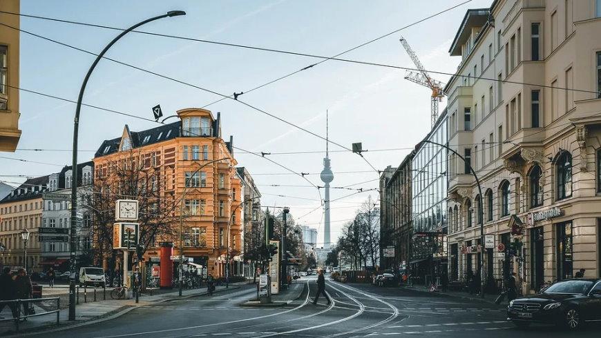 Leere Innenstadt in Mitte