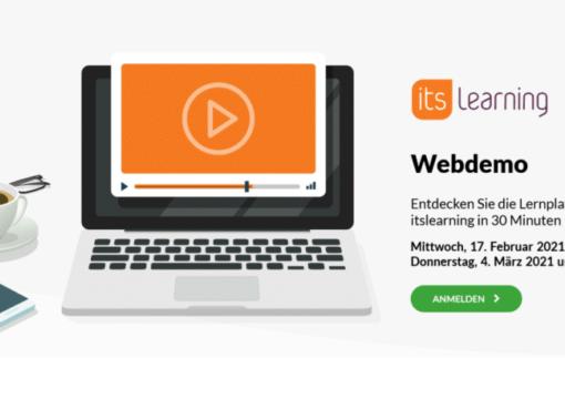 "Neue Lernplattform ""itslearning"""