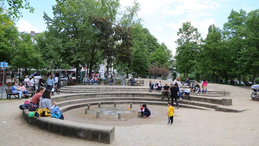 Spielbrunnen am Stuttgarter Platz