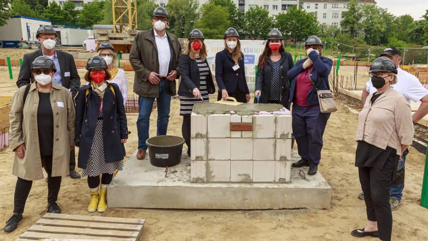 Grundsteinlegung für die Kindertagesstätte in der Wallenbergstraße 3, 10713 Berlin am 04.06.2021