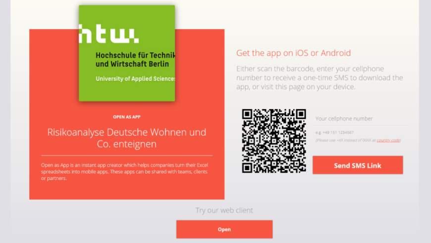 OPEN AS APP Risikoanalyse Deutsche Wohnen und Co. enteignen für iOS, Android und PC