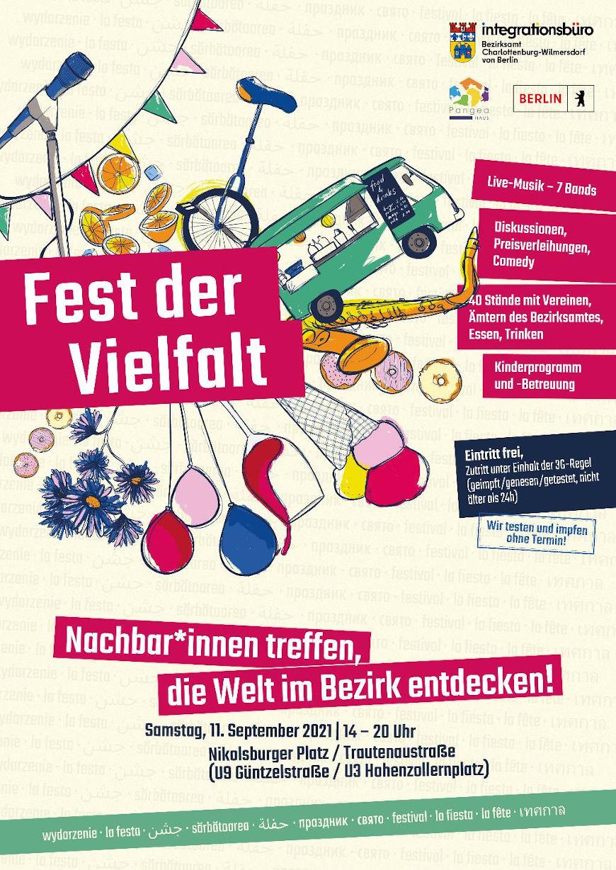 """Plakatwerbung """"Fest der Vielfalt"""""""